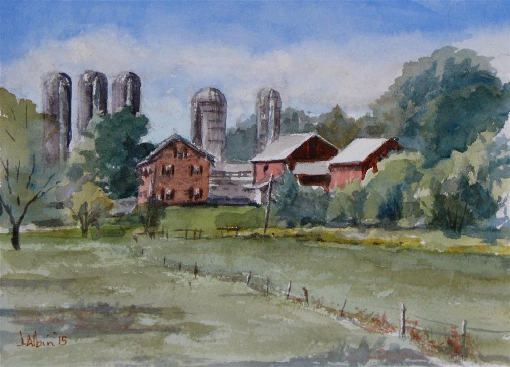 """""""Farm Near Reiff's Greenhouse"""" original fine art by Jane Albin"""