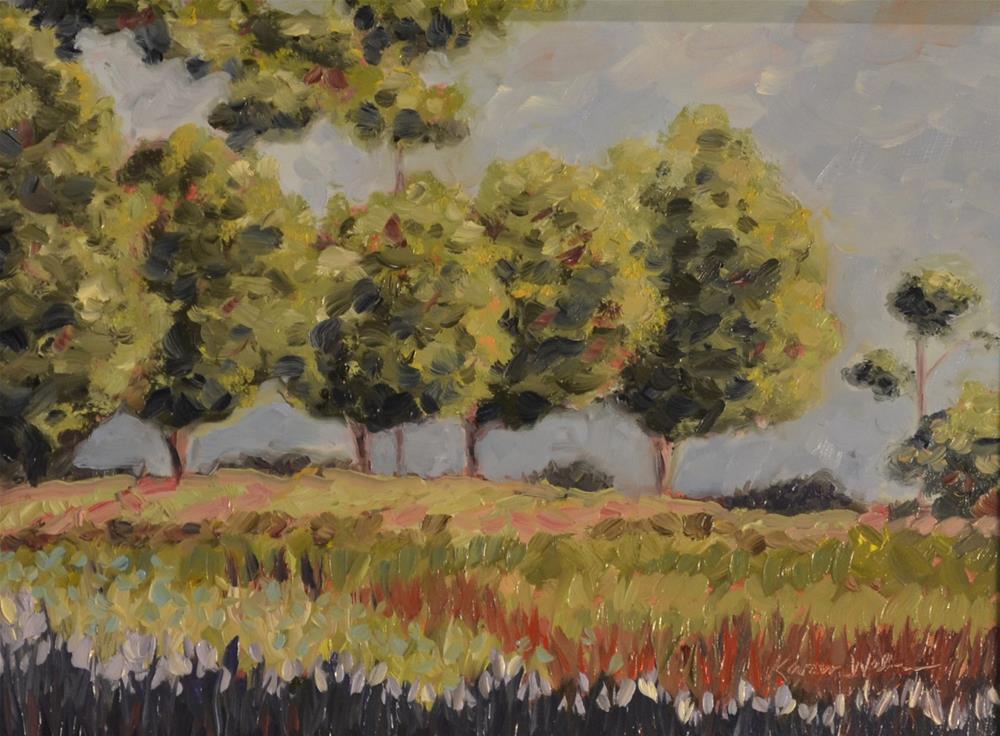 """Brown's Mill Trees"" original fine art by Karen Weber"
