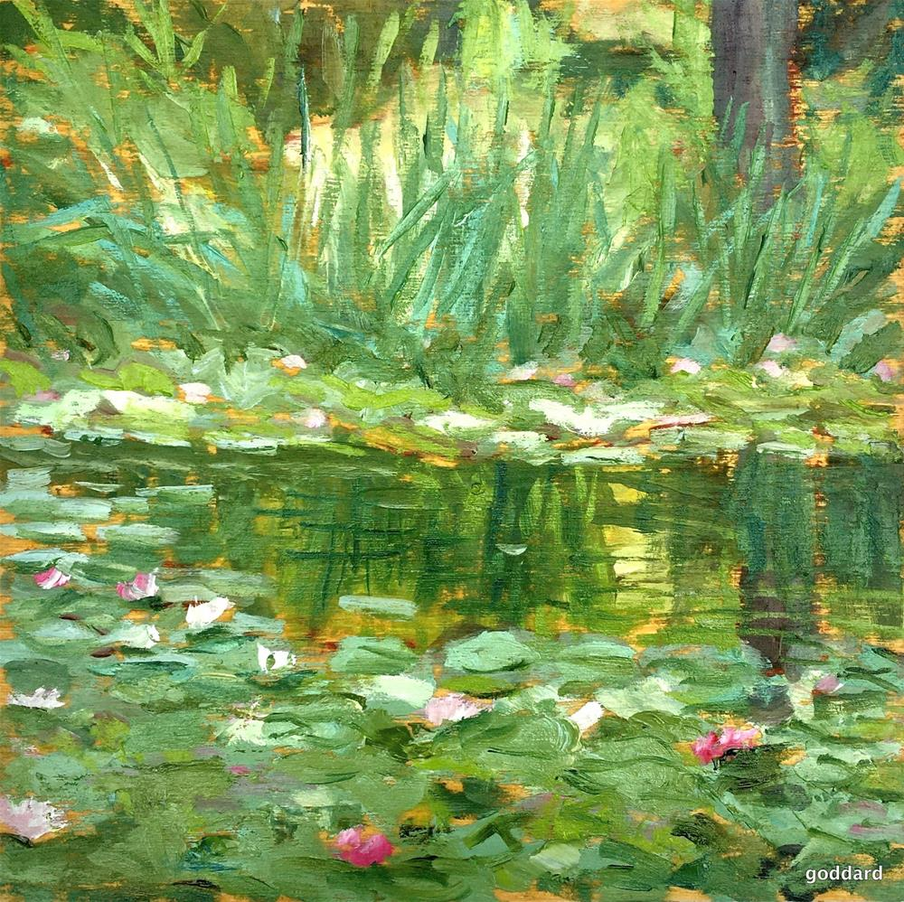 """Summer Pond"" original fine art by Shari Goddard Shambaugh"