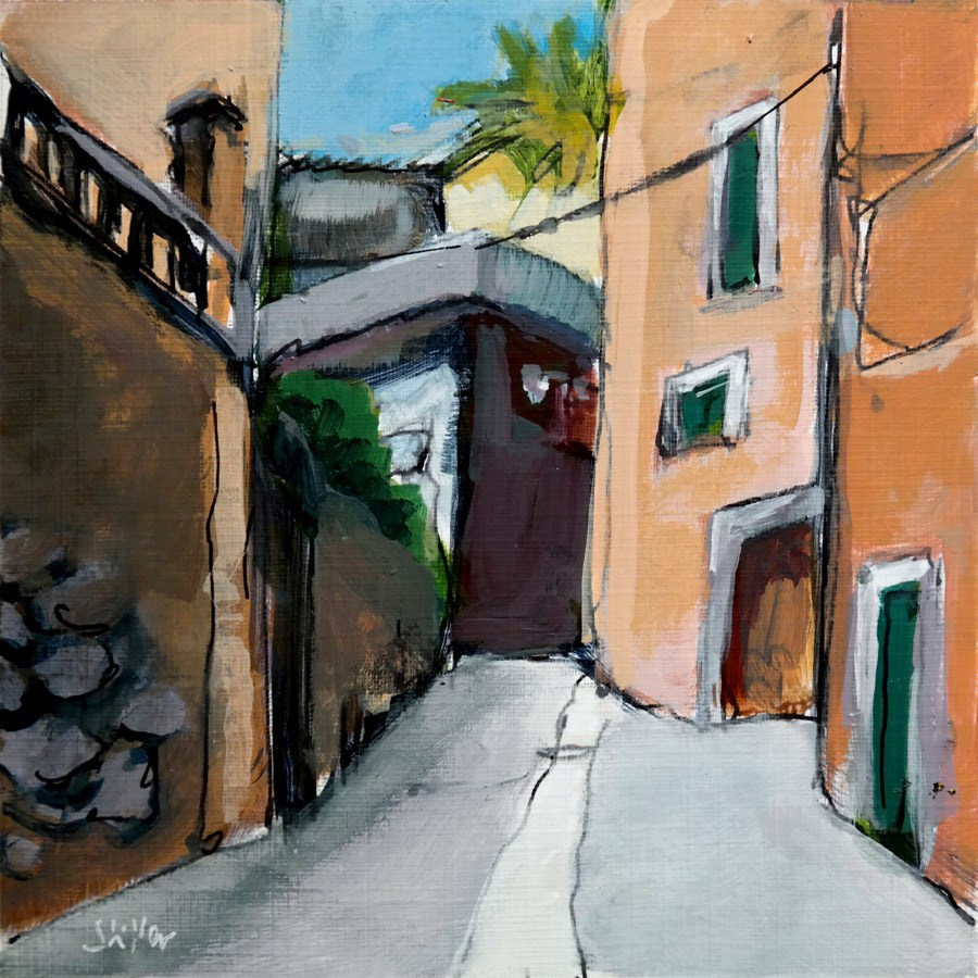"""2225 Alley on Majorca"" original fine art by Dietmar Stiller"
