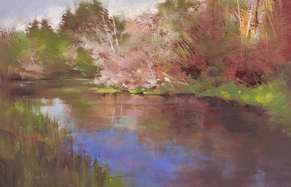 """Autumn Creek ATTIC GALLERY CAMAS WA"" original fine art by Barbara Benedetti Newton"
