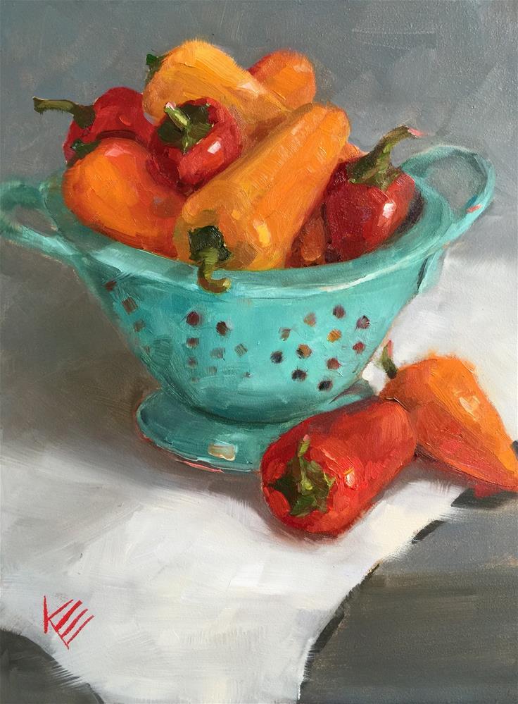 """""""Sweet Peppers"""" original fine art by Krista Eaton"""