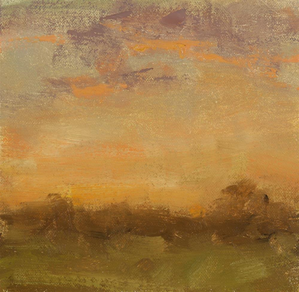 """""""Fall Sunset 05"""" original fine art by Scott Serafica"""