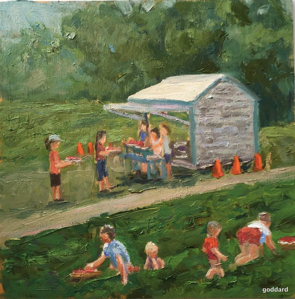 """Strawberry Fields"" original fine art by Shari Goddard Shambaugh"