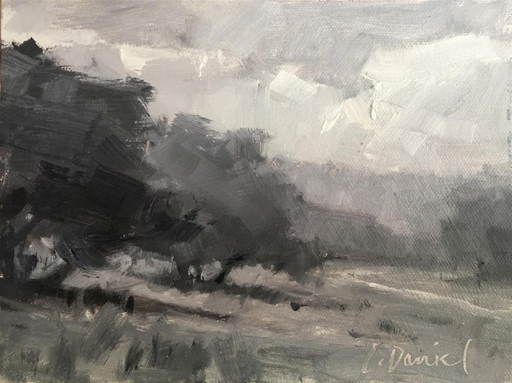 """Texas Landscape - Workshop Value Study Demo"" original fine art by Laurel Daniel"