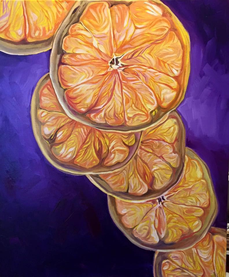"""""""Citrus Ascension"""" original fine art by Lauren Kuhn"""