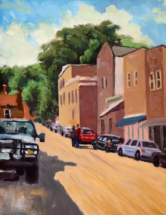 """Life in the City II, en plein air"" original fine art by Daniel Fishback"