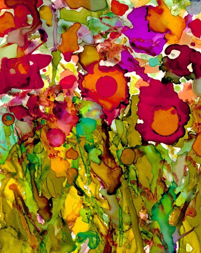 """Summer Blooms"" original fine art by Kelly Alge"