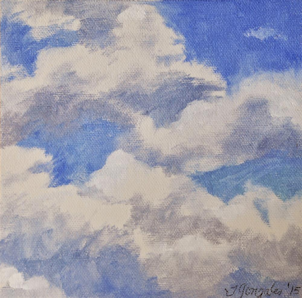"""""""I've Looked at Clouds..."""" original fine art by Theresa Gonzales"""