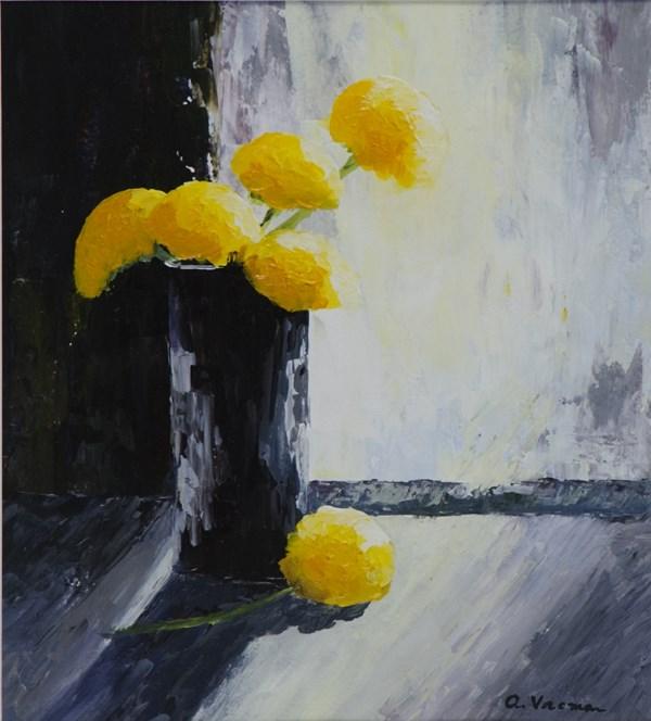 """""""Dandelions"""" original fine art by Anna Vreman"""