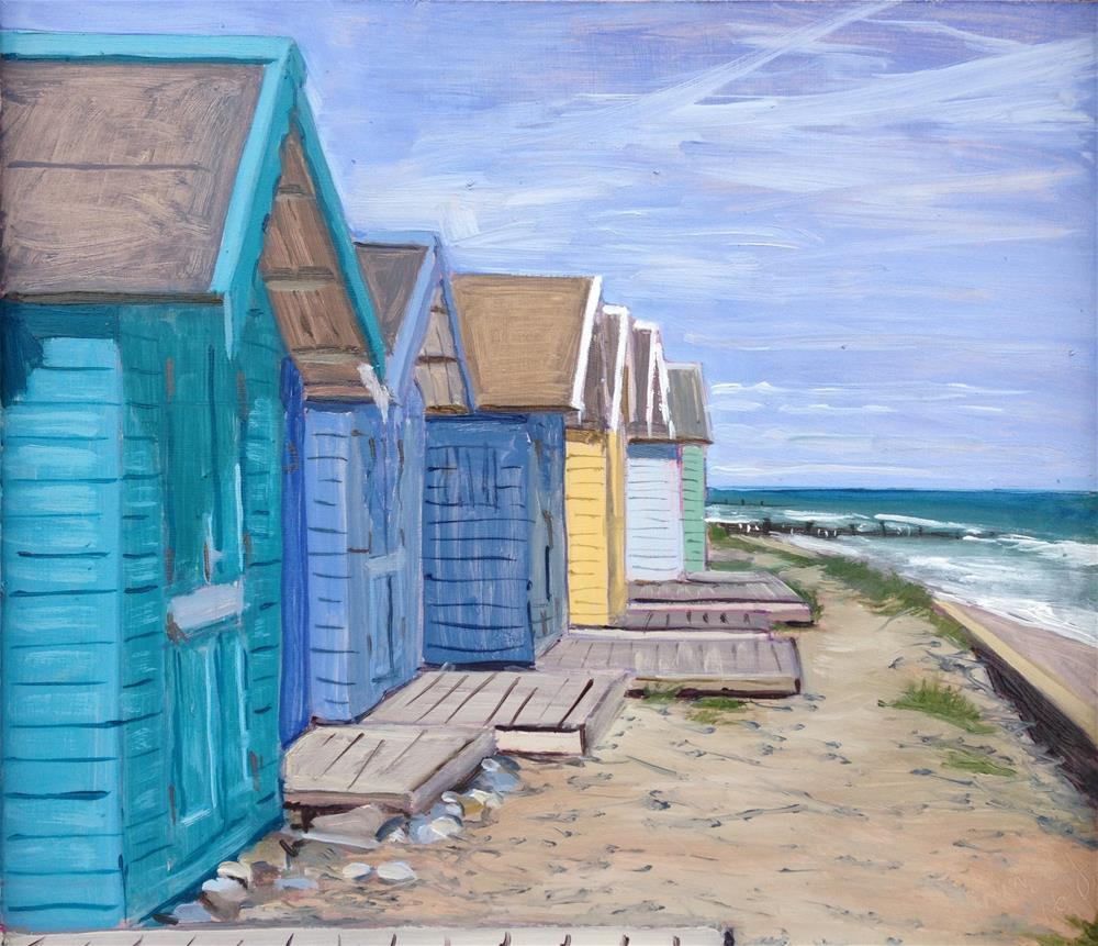 """No.30 Overstrand Promenade"" original fine art by Tanya Pawsey"