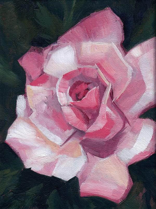 """Pink Rose"" original fine art by J M Needham"