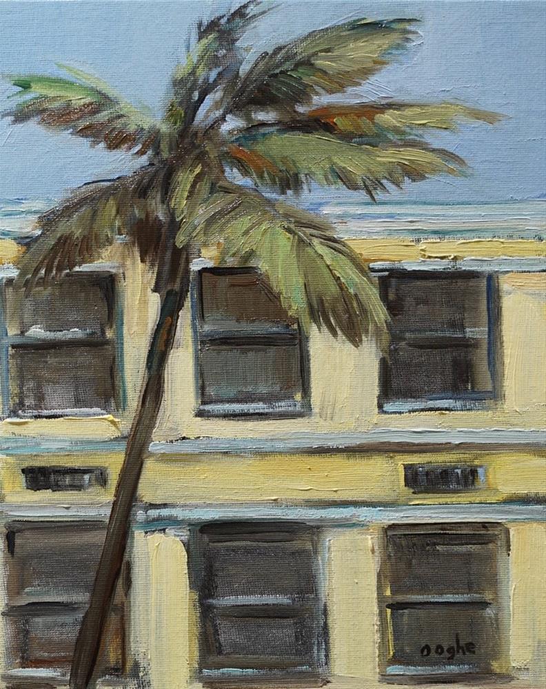 """Beach Hotel"" original fine art by Angela Ooghe"