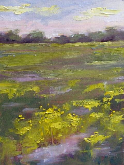 """Summer Marsh"" original fine art by Karen Margulis"