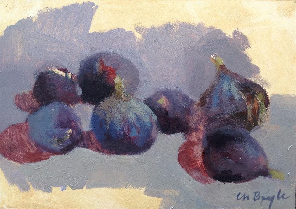 """Figs study"" original fine art by Christine Bayle"