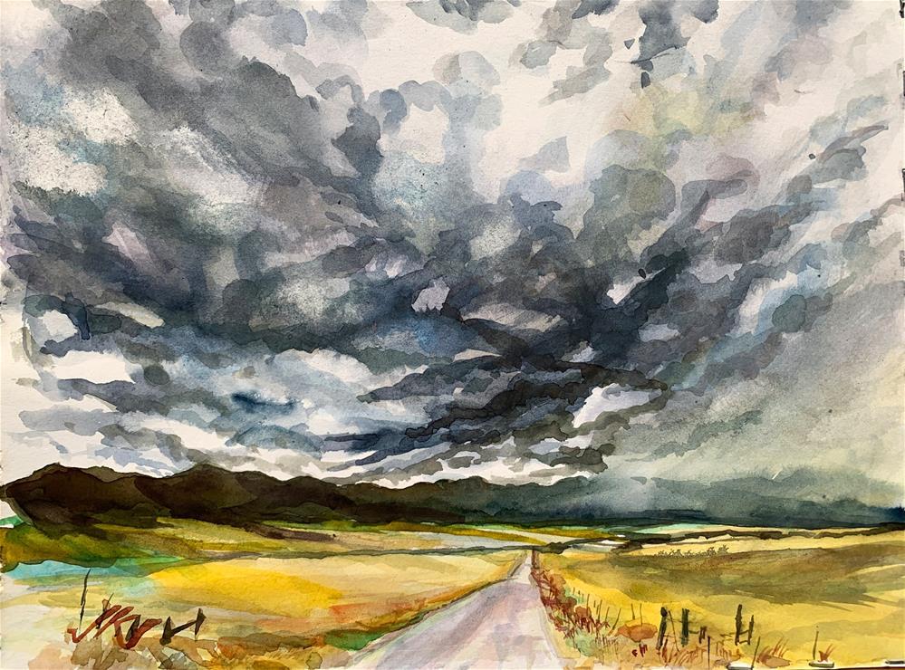 """""""Schoolfield Road, Westcliffe, CO"""" original fine art by Jean Krueger"""