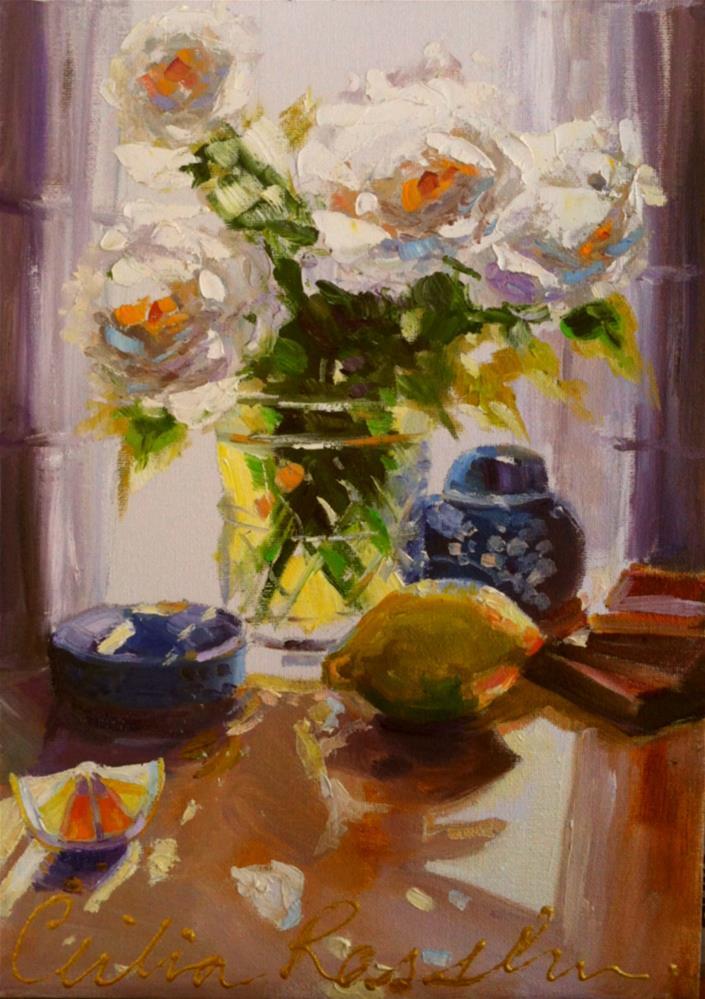 """CUT GLASS"" original fine art by Cecilia Rosslee"