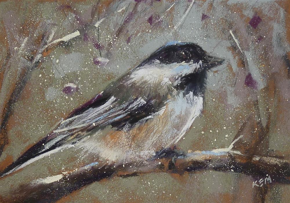 """My Favorite Pastel Paper for Winter Birds"" original fine art by Karen Margulis"