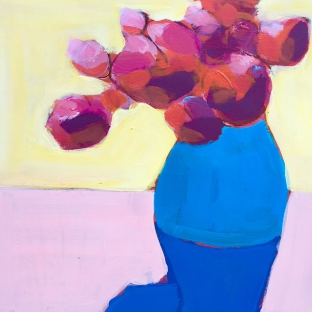 """#11 Abstract Flowers"" original fine art by Belinda Bell"