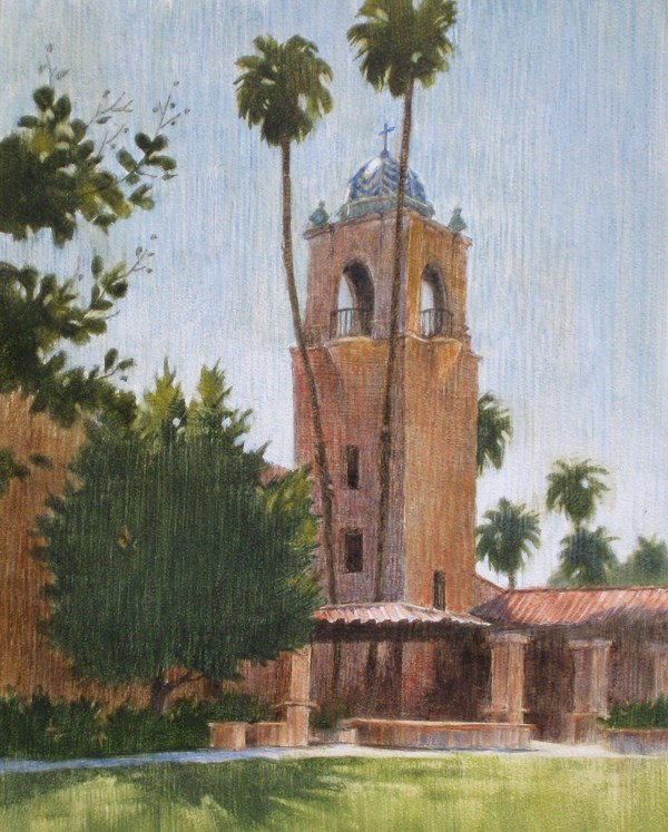 """The Baptist Church"" original fine art by Ginger Pena"