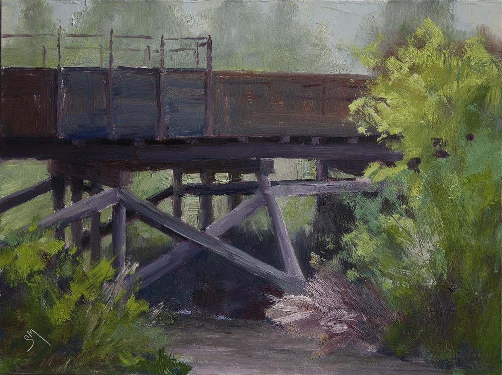 """River Crossing"" original fine art by Sheila Marie"