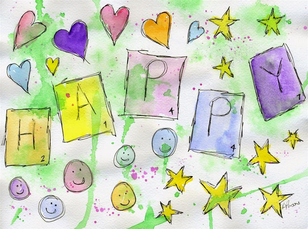 """""""How do you spell Happy?"""" original fine art by Kali Parsons"""