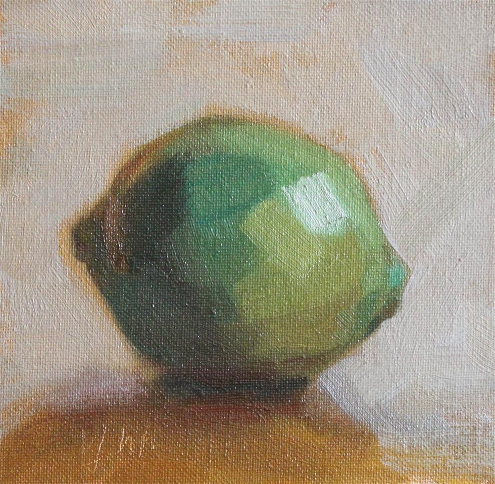 """lime"" original fine art by Yuehua He"
