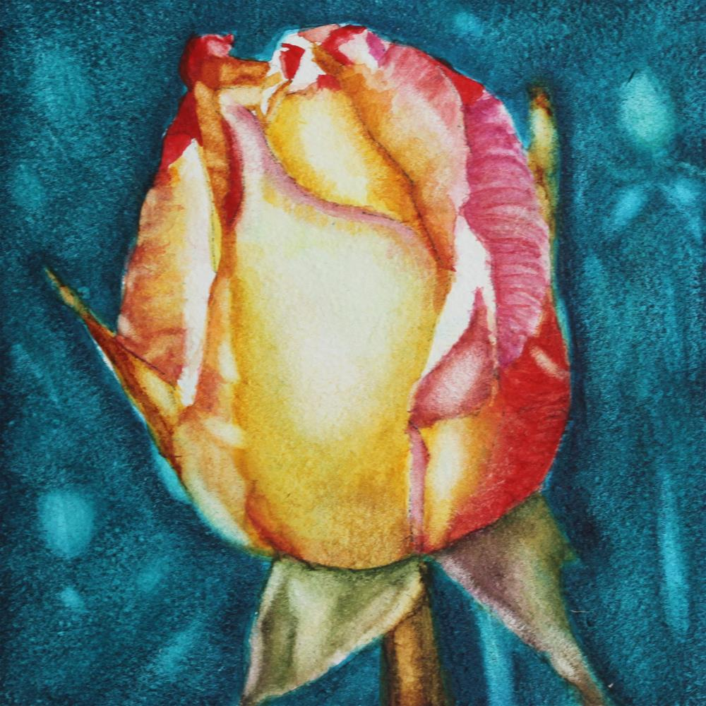 """Rose Elegance"" original fine art by Christiane Kingsley"