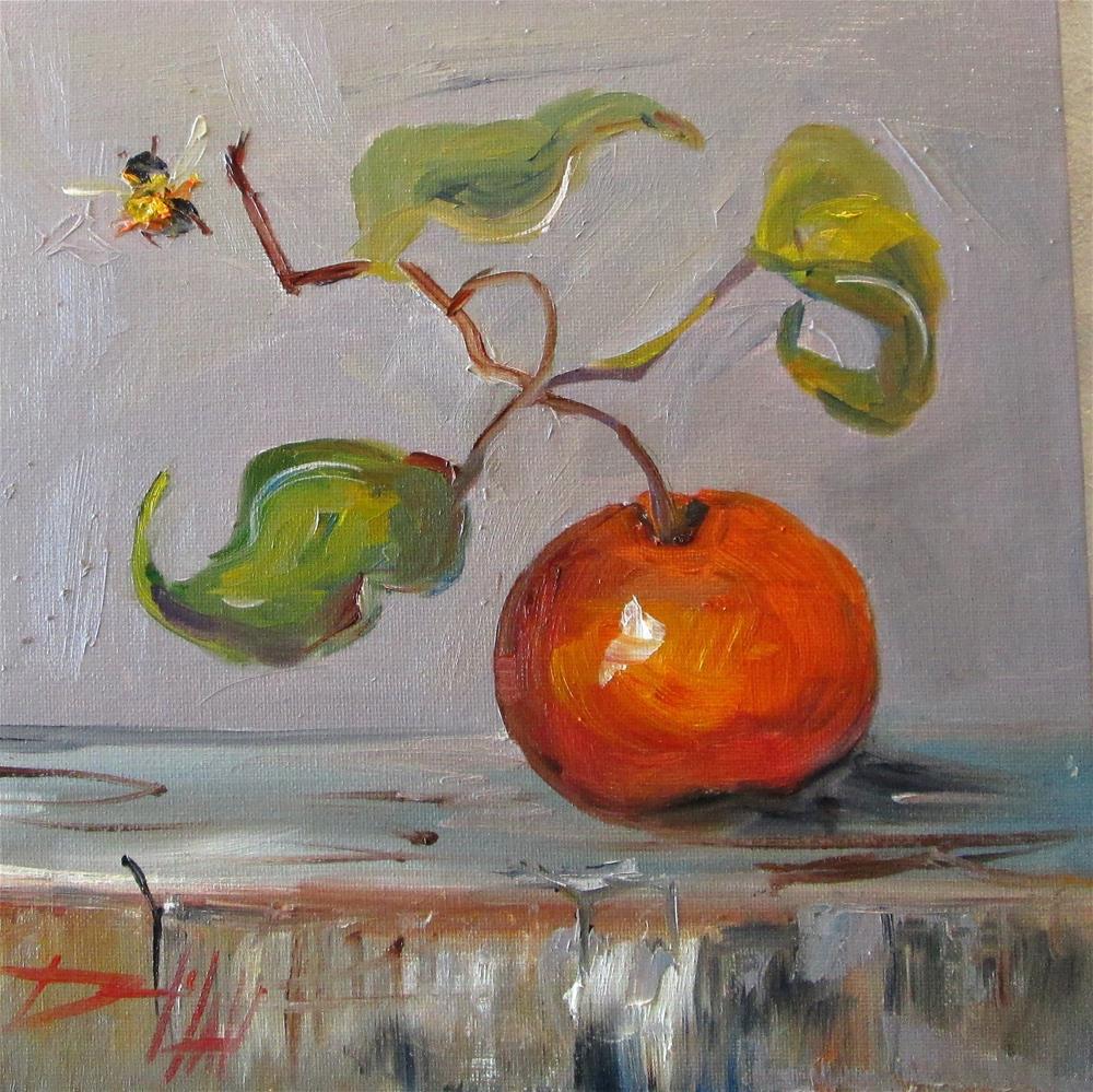 """Orange Still Life no. 8"" original fine art by Delilah Smith"