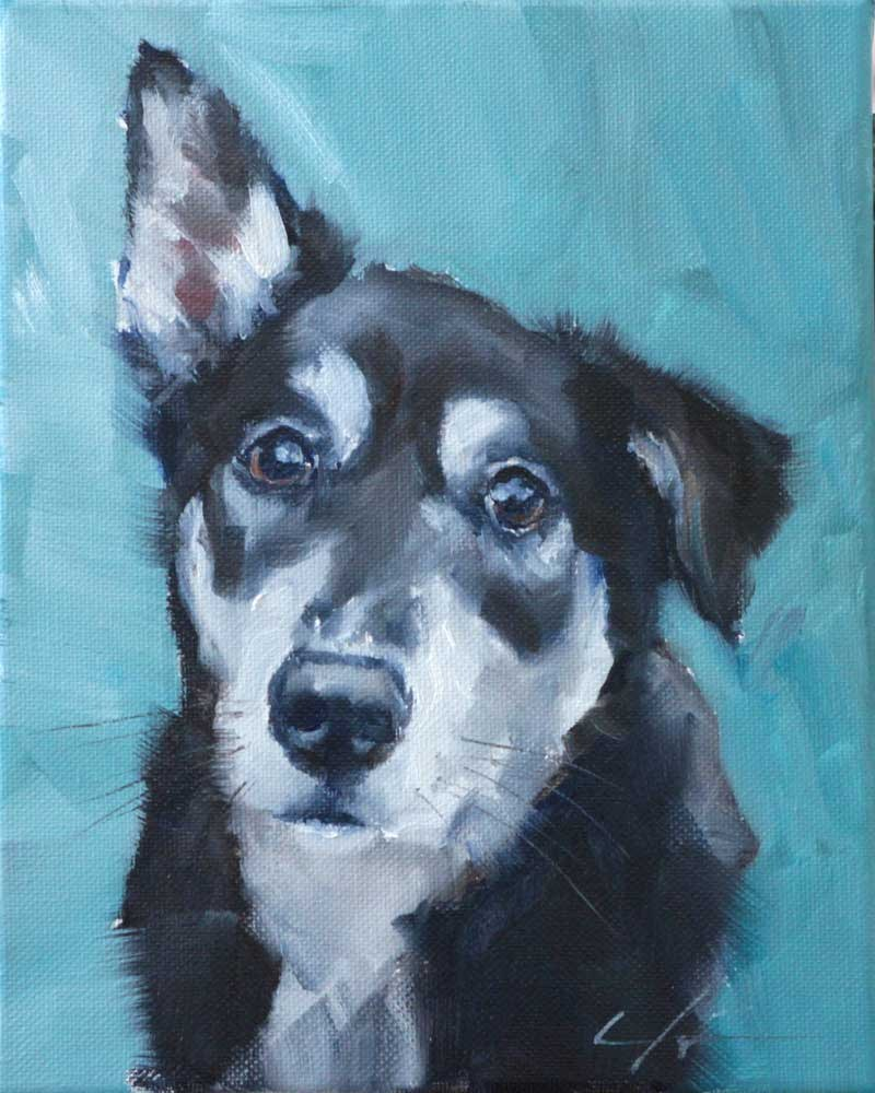"""The Daily Dog - One"" original fine art by Clair Hartmann"