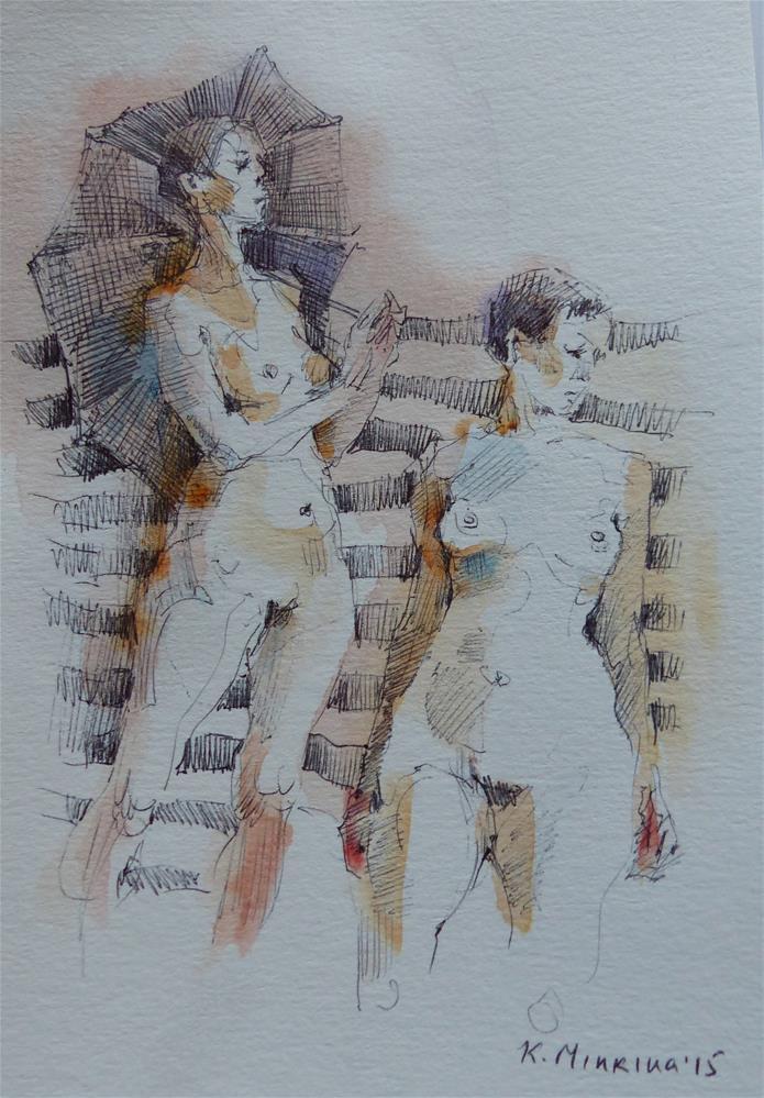 """sketchbook#8"" original fine art by Katya Minkina"