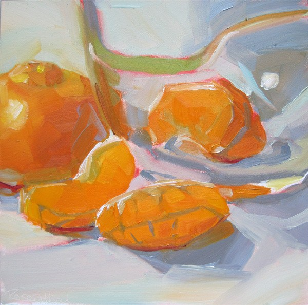 """Mandarin Oranges"" original fine art by Robin Rosenthal"
