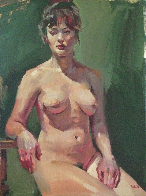 """Green Miranda"" original fine art by Sarah Sedwick"