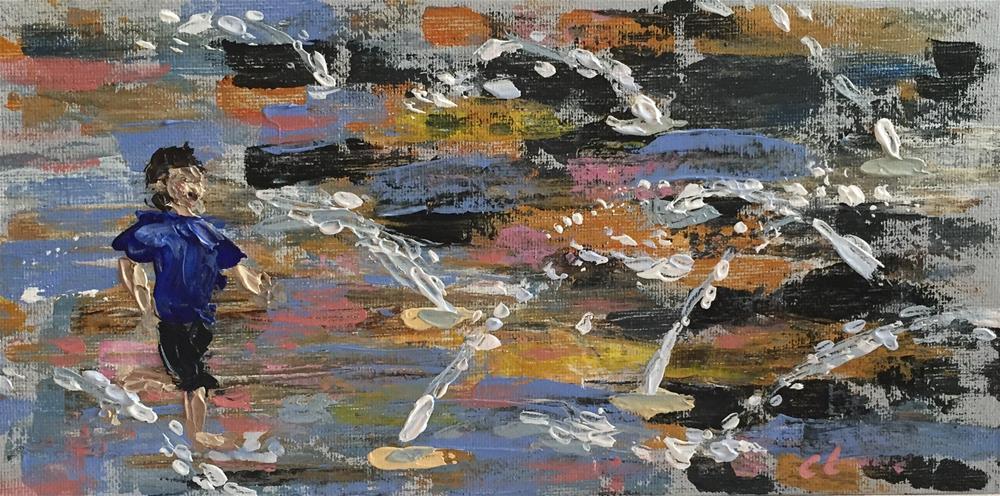 """Unionize"" original fine art by Cheree Apalona Lueck"