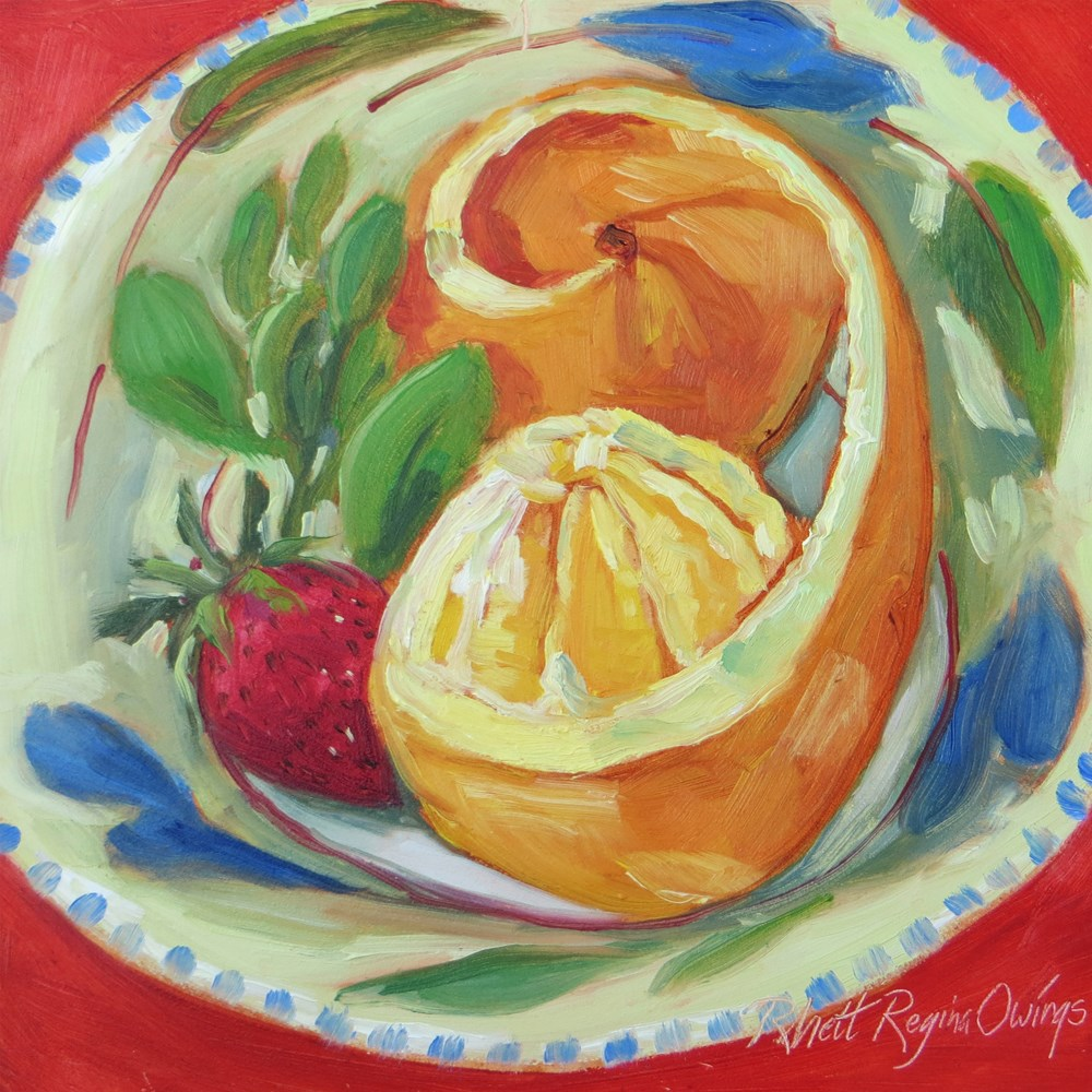 """Orange Peeled"" original fine art by Rhett Regina Owings"