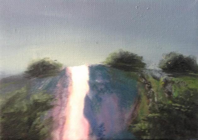"""Fire Mountain"" original fine art by christina glaser"