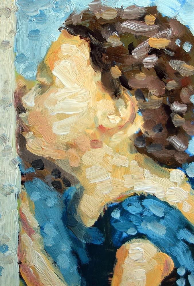 """""""Cat Kiss"""" original fine art by J. Farnsworth"""