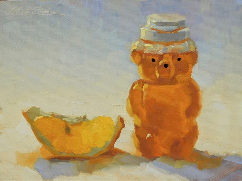"""Honey Bear & Lemon"" original fine art by Karen Werner"