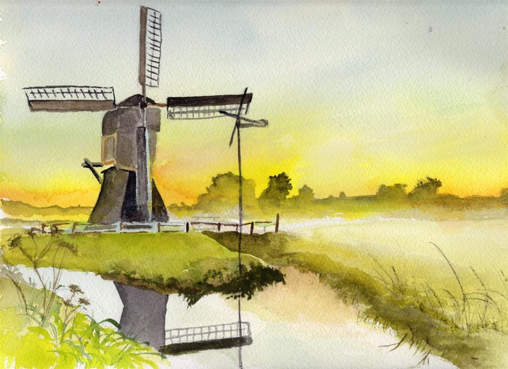 """""""Windmill"""" original fine art by Bunny Griffeth"""