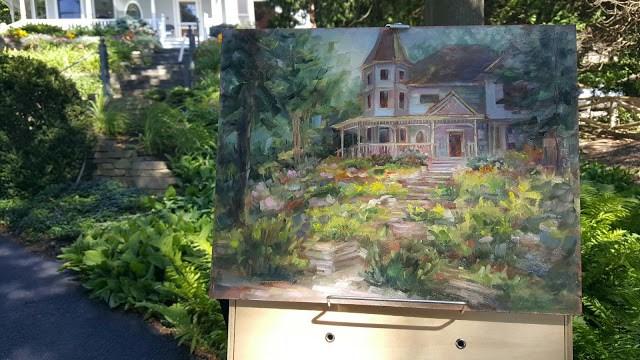 """""""Steps through the Garden"""" original fine art by Tammie Dickerson"""