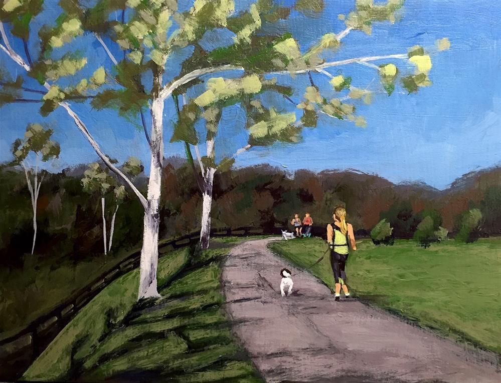 """Dog Joggers"" original fine art by Andrea Jeris"