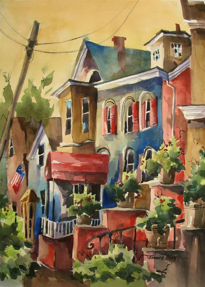 """Downtown, Clinton, NJ"" original fine art by Jinnie May"