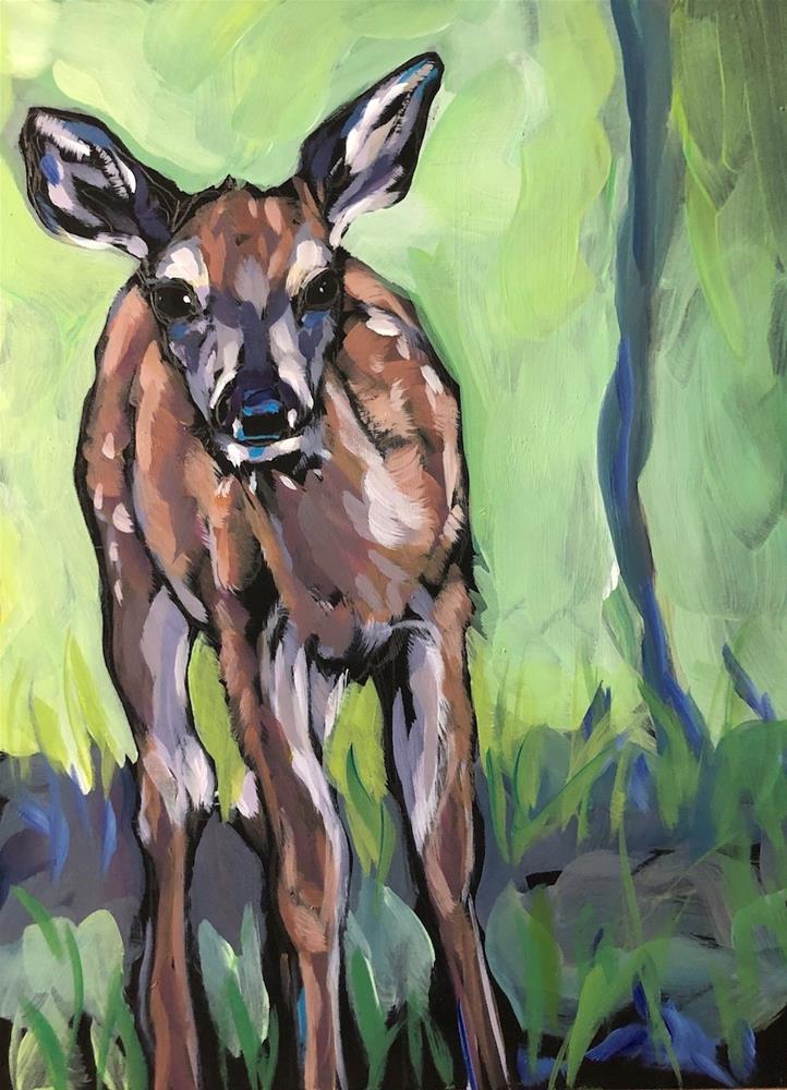"""Slanting Fawn"" original fine art by Kat Corrigan"