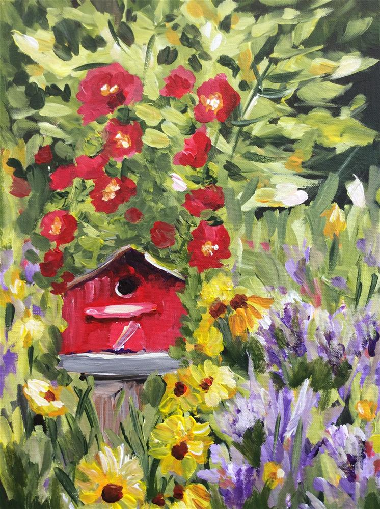 """""""Country Charm"""" original fine art by Molly Rohrscheib Hathaway"""