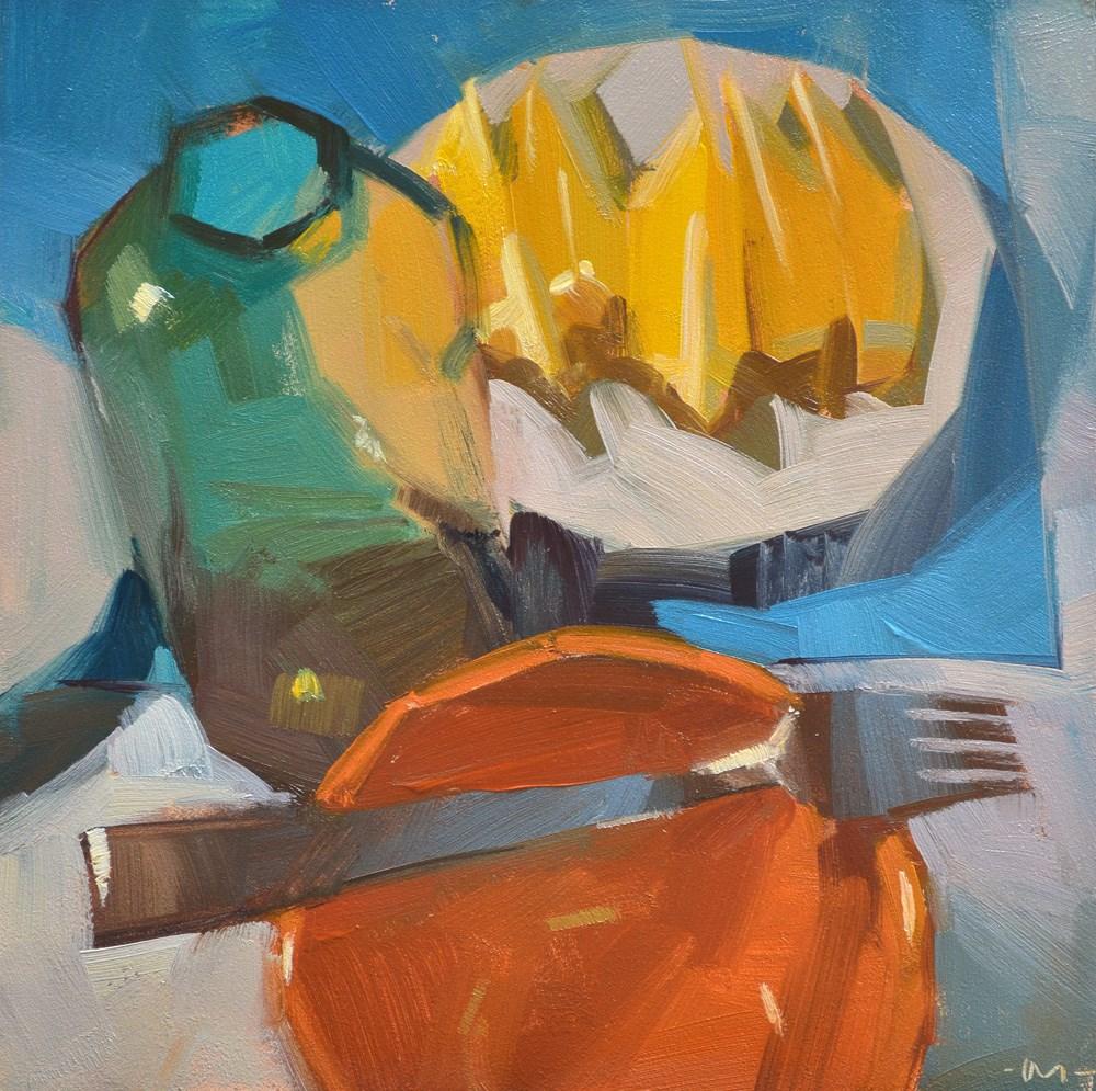 """Making Lemon Elixer"" original fine art by Carol Marine"