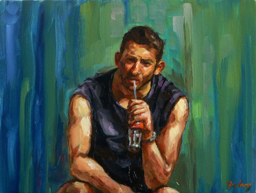 """""""athlete"""" original fine art by Jurij Frey"""