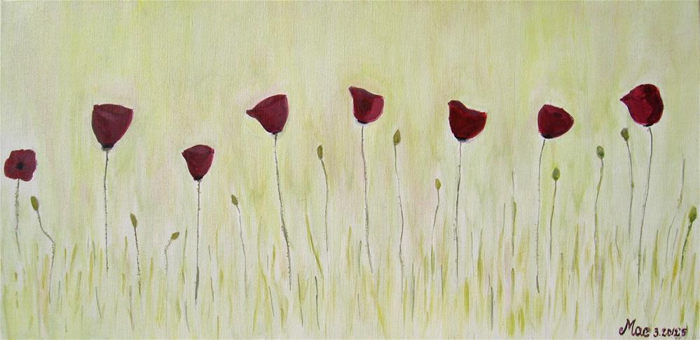 """Poppies Joy"" original fine art by Alina Frent"