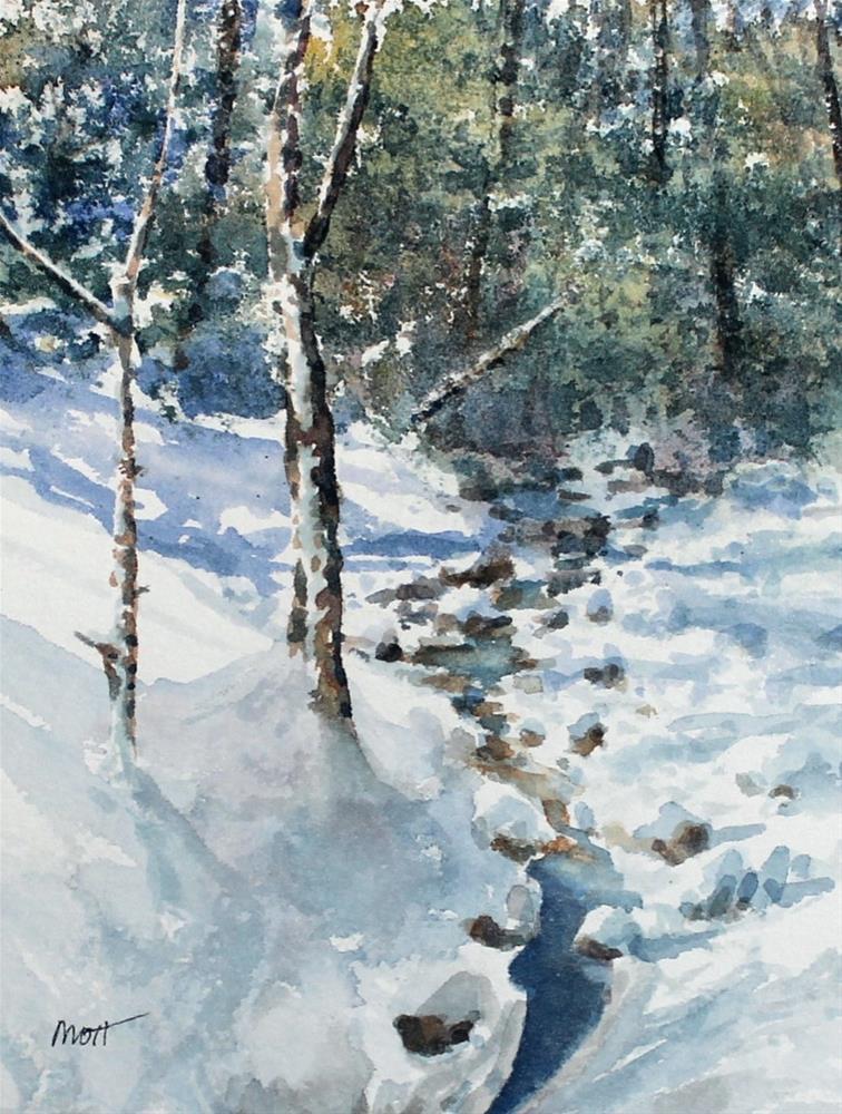 """""""Winter Blanket"""" original fine art by Jeff Mott"""