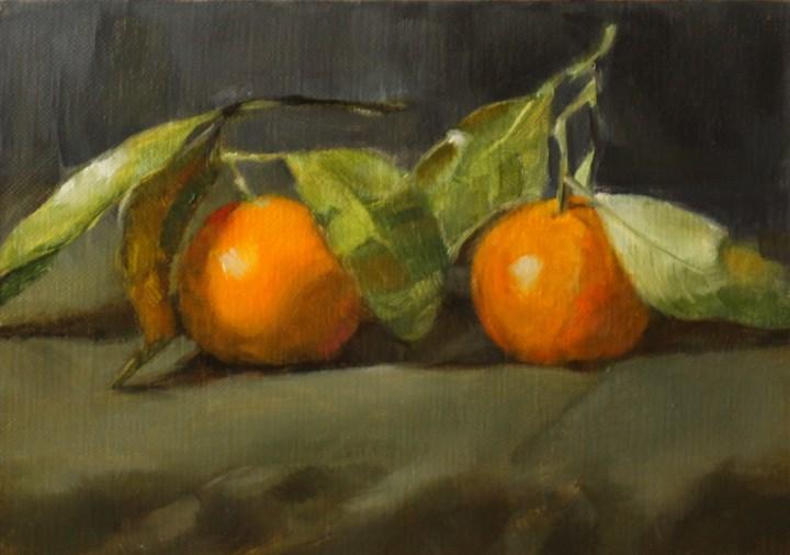 """Tangerines"" original fine art by Pamela Poll"