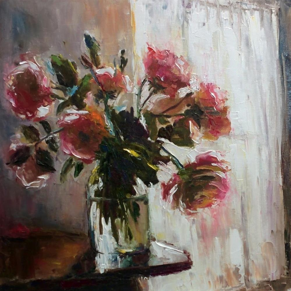 """""""Once More Roses"""" original fine art by pepa sand"""